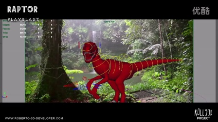 Raptor - 3D Model and Rigging - by Rolls3D 2015