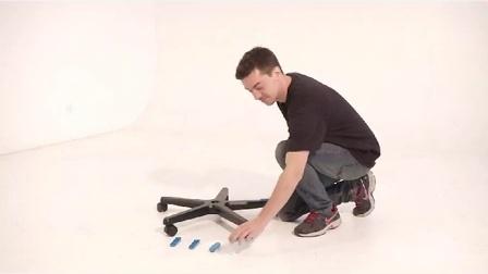 如何安装迪锐克斯DXRacer五星脚脚垫