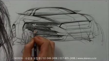 韩国汽车设计马克笔手绘教程1