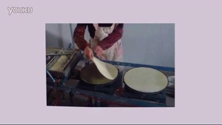 富康半自动仿手工煎饼果子杂粮菜煎饼机器做法视频
