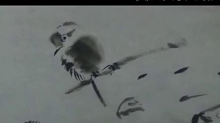霍春阳老师示范小鸟、鱼儿绘画技法