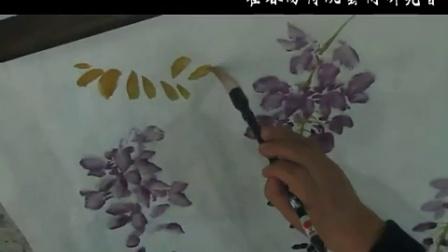 霍春阳老师示范紫藤、石头技法
