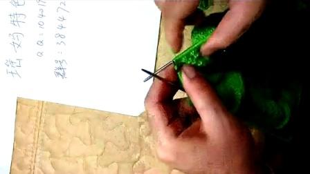 瑶妈手工五根针织的叶子花毛衣四