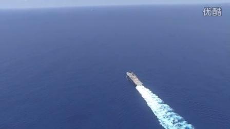 中国海军盐城(FFG 546) 护卫舰南中国海监视美军濒海战斗舰LCS3