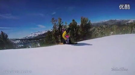 两岁宝宝跟着老爸去滑雪 真心不能让当爹的带小孩_超清