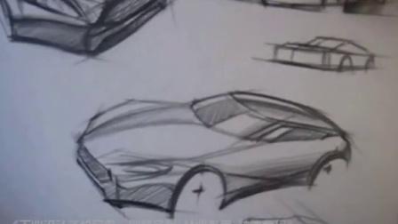 俯视多角度车体设计绘制视频-来源于黄山手绘出版书籍《工业设计手绘宝典》