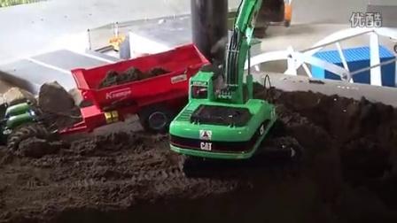 (RC工程车)克拉姆普Cat挖掘机