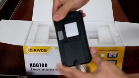 金威士得KDB700无线可视对讲门铃产品配置高清视频