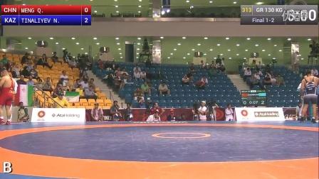 2015亚洲古典式摔跤锦标赛 130kg决赛