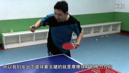 《全民学乒乓发球篇》第1.2集:直拍勾式(手)下旋发球