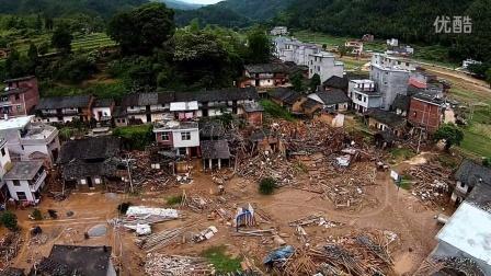 福建龙岩长汀519洪灾航拍高清画面