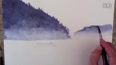 【失逝】水彩教学视频 - How to Paint a Waterscape with Watercolors - Fine Art-Tips