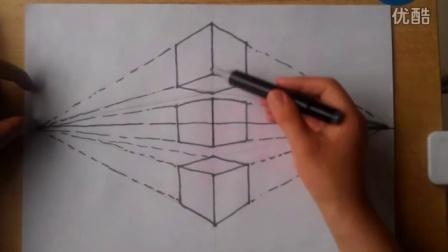 速写素描两点透视根李老师学画画