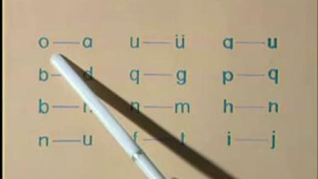 汉语拼音教学视频第7课复习课单韵母6个(a o e i u ü)声母23个(b p m f d t_标清