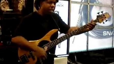 Victor Wooten at Snap Jack at Namm 2010