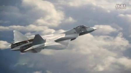 俄罗斯五代战机-t50发射空对空导弹