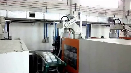 Robot for injection machines