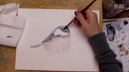 Speed Painting׃ Loose Watercolor Chickadee