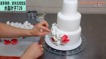 婚礼花朵装饰翻糖蛋糕
