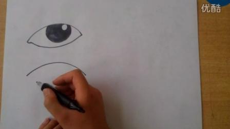 简笔画画眼睛鼻子耳朵嘴巴的画法根李老师学画画