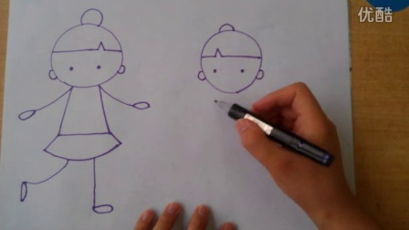 简笔画小女孩各种姿势的画法根李老师学画画