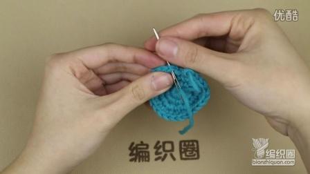 圈织编织结尾时线头的处理方法毛线编织简单方法