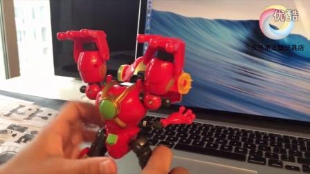 贝乐惠-奥迪双钻快乐酷宝2合体变形玩具 蛙王酷宝 变形拆装教学