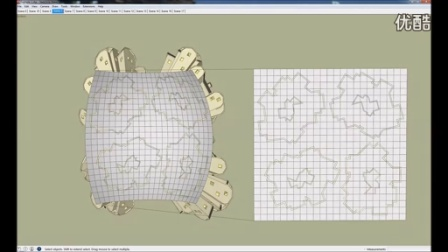 SketchUp插件沿曲面流动效果