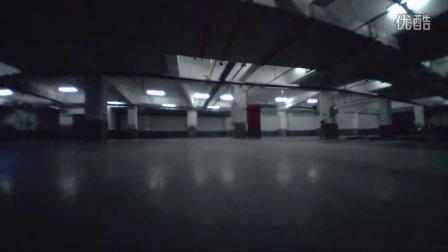 FPV - 微型X四轴地下停车场转弯练习
