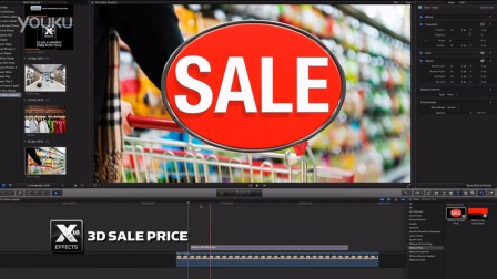 免费fcpx插件  XEffects 3D Sale Price Title Plugin for Final Cut Pro X