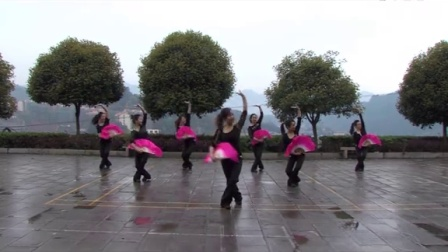 桑植民歌广场舞 《四季花儿开》
