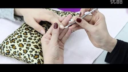美甲工具笔和挫条的使用7天美甲速成美甲培训哪个好_指甲打磨