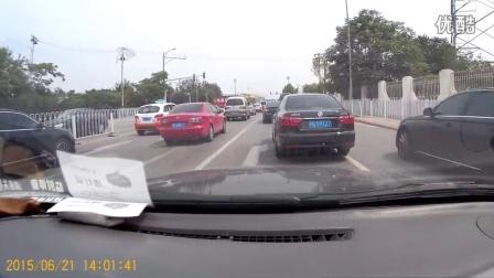 北京通州卡罗拉连续别车被顶飞