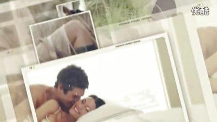 A0812婚礼MV婚庆暖场片纪念日照片视频相册家庭图片展示AE模板