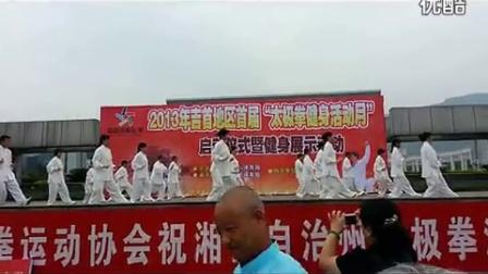 峒河社区太极队表演_24式太极拳标清