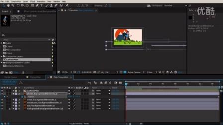 【阿甘推荐】AE中利用DUIK脚本角色绑定运动学视频教程12