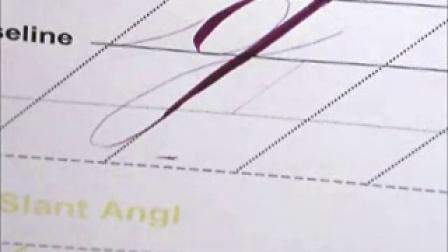 英文Calligraphy 视频教学 8 小写字母g q