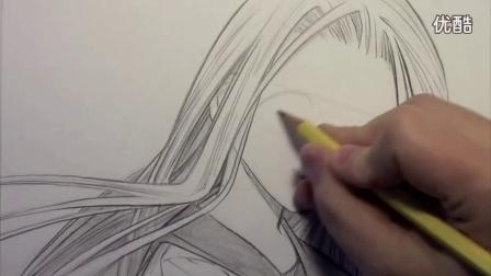 手绘动漫技法视频教程(教你画动漫人物的眼睛)