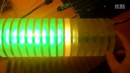 LED VU meter tower using PulseAudio