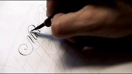英文花体字书法大师作品,美极了
