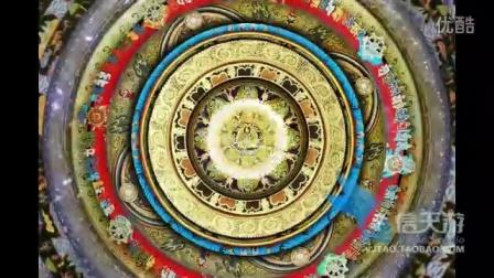 0330圆形图案花纹纹理复古古典纹路宗教民族文化艺术视频素材