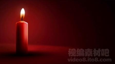 婚庆红色燃烧蜡烛视频素材new