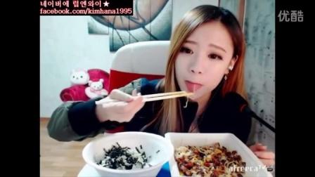 吃播投稿微信cnzdch——何娜吃出个未来·韩国女主播吃货男主播吃饭直播真的是什么都吃,大胃王减肥美食视频美食人生大学生做菜87
