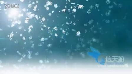 7371雪花下雪可爱小清新浪漫唯美梦幻舞台背景表演背景视频素材
