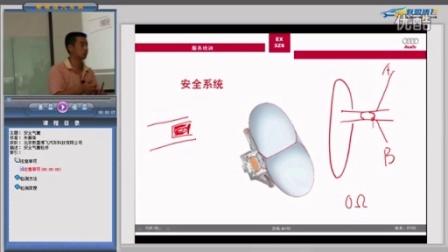汽车维修视频教程 奥迪车身电器分析——安全气囊 片段
