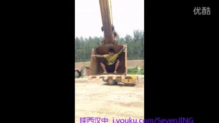 挖掘机之最高端玩法-旋转座椅和跑步机