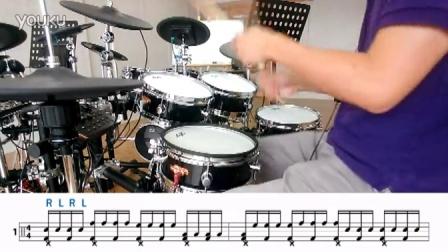 台湾 Goedrum 鼓动电鼓 Je6 电鼓 架子鼓  鼓手每天的暖身運動 (RLRL-2) 移位