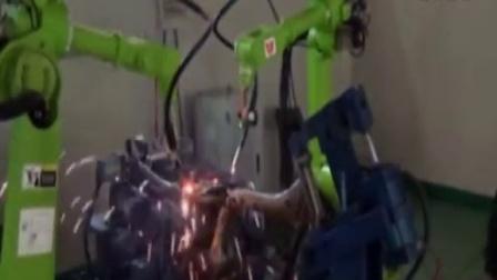 六轴机器人焊接摩托车架应用