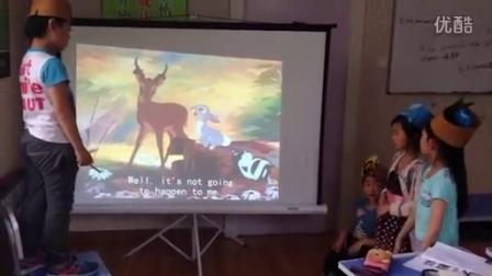 青岛冲锋学校情境英语观影课配音《小鹿斑比1》课堂练习1