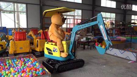 第二代,熊二可行走儿童挖土机